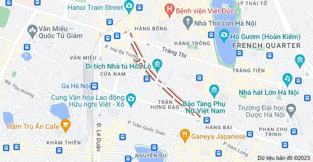 Bản đồ của Thợ Nhuộm, Hoàn Kiếm, Hà Nội