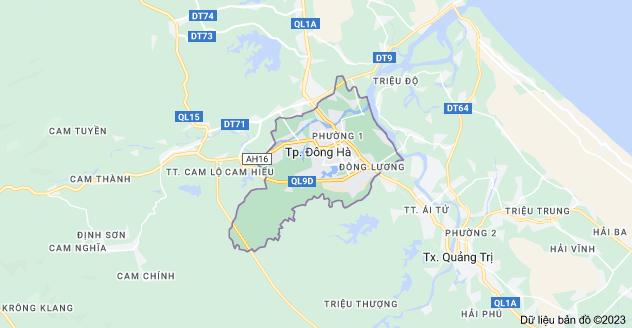 Bản đồ TP Đông Hà, Quảng Trị, Việt Nam