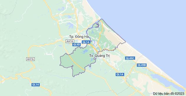 Bản đồ huyện Triệu Phong, Quảng Trị, Việt Nam