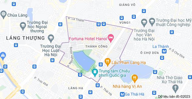 Bản đồ của Thành Công, Ba Đình, Hà Nội
