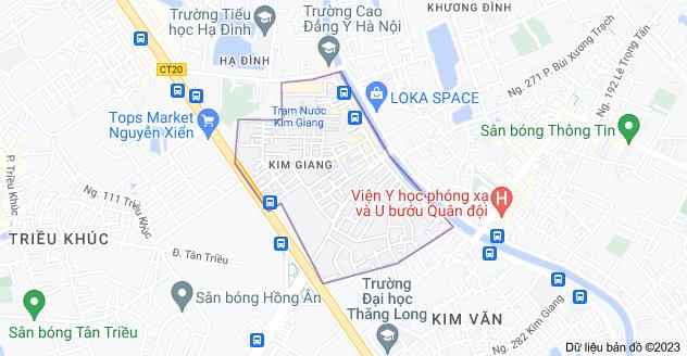 Bản đồ của Kim Giang, Thanh Xuân, Hà Nội