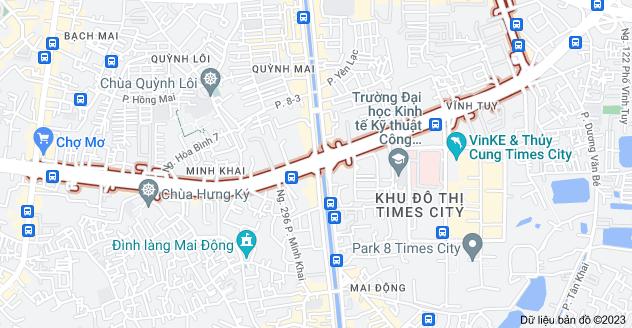 Bản đồ của Phố Minh Khai, Hà Nội