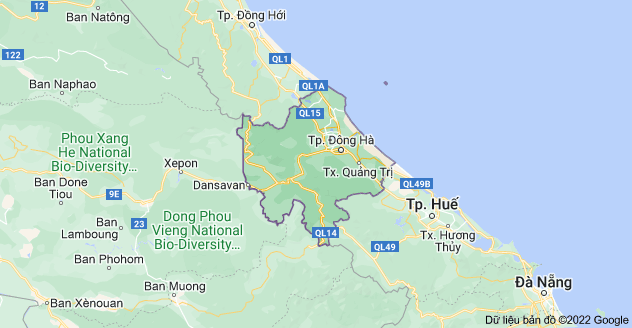 Map of Quang Tri, Vietnam