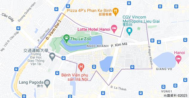 Ngọc Khánh, 巴亭郡河內地圖