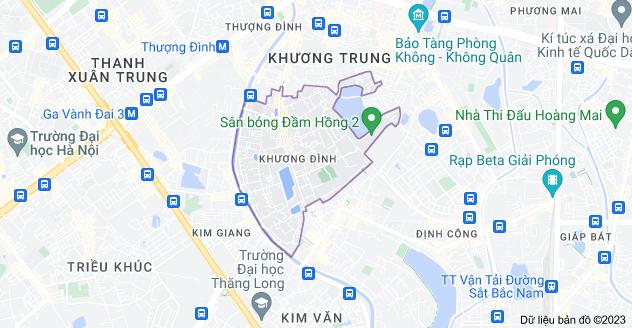 Bản đồ của Khương Đình, Thanh Xuân, Hà Nội