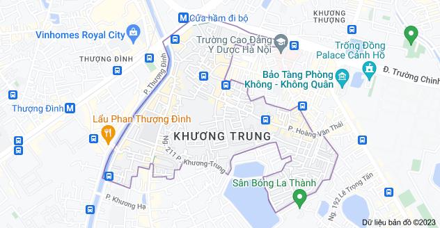 Bản đồ của Khương Trung, Thanh Xuân, Hà Nội