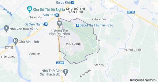 Bản đồ của Phú Lương, Hà Đông, Hà Nội