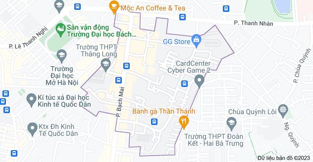 Bản đồ của Bạch Mai, Hai Bà Trưng, Hà Nội
