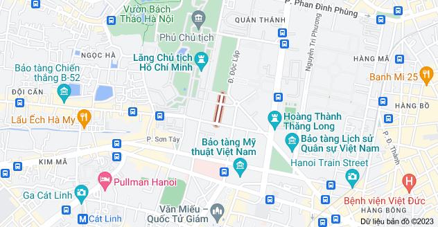 Bản đồ của Bà Huyện Thanh Quan, Điện Biên, Ba Đình, Hà Nội