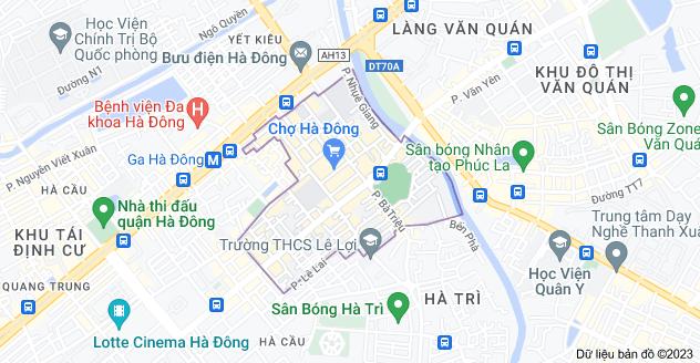 Bản đồ của Nguyễn Trãi, Hà Đông, Hà Nội