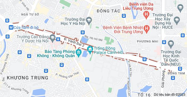 Bản đồ của Trường Chinh, Hà Nội